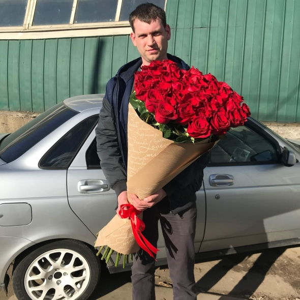 51 роза гигант 100 см