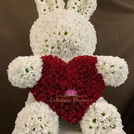 Заяц из Хризантем 100 см