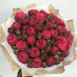 """29 пионовидных роз """"Red Piano"""""""
