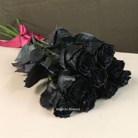 9 черных роз
