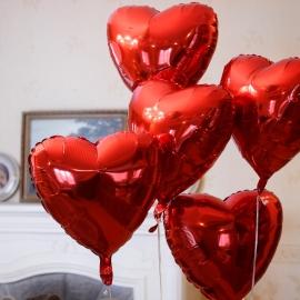 """Фольгированные шары """"Красное сердце"""""""